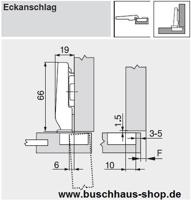 71t0550 clip top 94 minitopfscharnier 26 mm eckanschlag feder. Black Bedroom Furniture Sets. Home Design Ideas