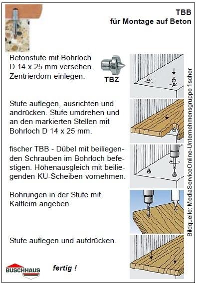 Fischer Treppenstufen Befestigung Tb Tbb